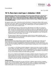 70 % flere børn med type 1-diabetes i 2020 - Diabetesforeningen