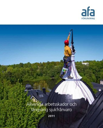 Allvarliga arbetsskador och långvarig sjukfrånvaro - AFA Försäkring