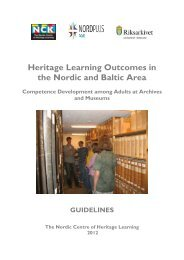 Heritage Learning Outcomes in the Nordic and Baltic Area - Nordiskt ...