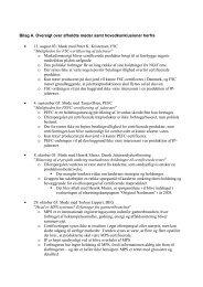 Bilag A. Oversigt over afholdte møder samt ... - Naturstyrelsen