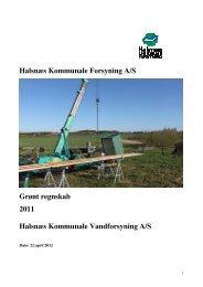 Grønt regnskab for vand 2011 - Halsnæs forsyning