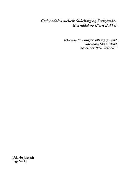 Idéforslag til naturforvaltningsprojekter dec. 2006