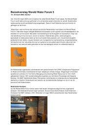 Bezoekverslag World Water Forum Istanbul (maart ... - De Zandmotor