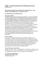 SAEBIT – Entwicklungspolitischen Bildungstage - 7 Tage Zukunft