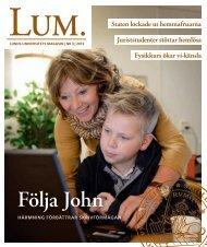 LUM nr 3 | 2013 - Humanekologi Lunds universitet