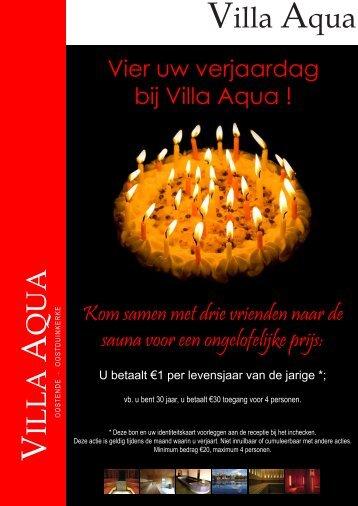 Vier uw verjaardag bij Villa Aqua!