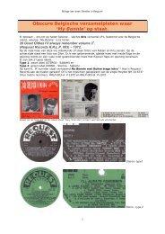 Obscure Belgische verzamel vinylplaten waar - Beatles in Belgium