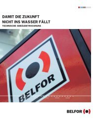 Gebäudetrocknung - Belfor