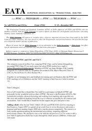 PTSC Telegram 25 - European Association for Transactional Analysis
