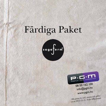 Se vår katalog med färdiga paket-lösningar! - PGM
