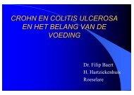 crohn en colitis ulcerosa en het belang van de voeding
