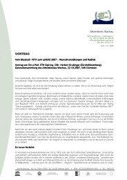 VORTRAG - Arbeitskreis Wachau