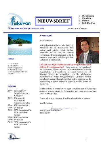 07/2011 - Boekhoudkantoor Fiskuvan BV ovv BVBA
