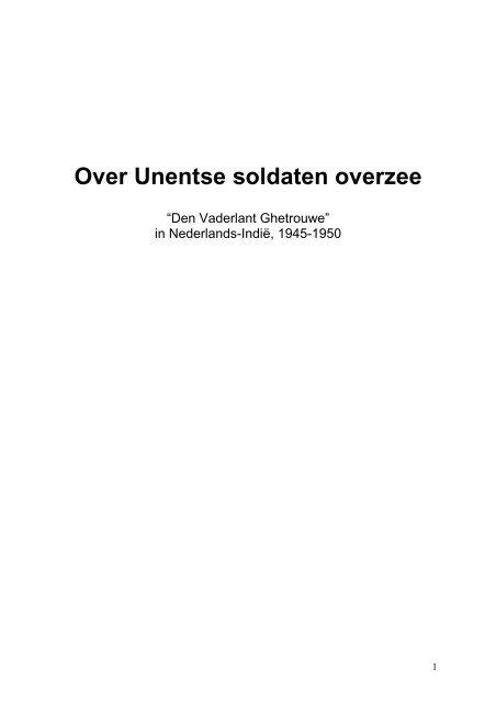 fc0d87f9ebc Over Unentse soldaten overzee - t schoor udenhout - biezenmortel