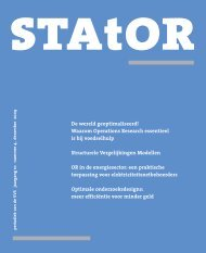 column - Netherlands Society for Statistics and Operations Research