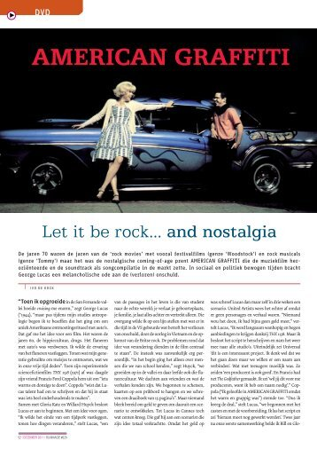[PDF] American Graffiti - Let it be rock...... and nostalgia - Filmmagie