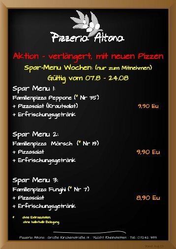 erfahren Sie mehr... - Pizzeria Altona
