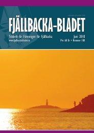 Juni 2010 Tidskrift för Föreningen för Fjällbacka