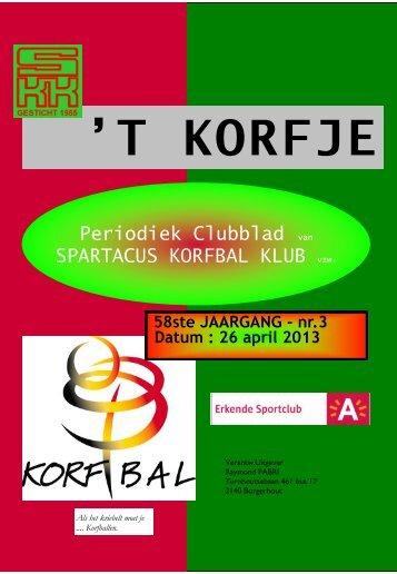 Clubblad 3 - Spartacus Korfbal