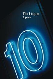 Tio-i-topp (pdf) - Statistiska centralbyrån