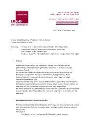 Logo Antwerpen Noord vzw Prins Kavelhof 35 2930 Brasschaat tel ...