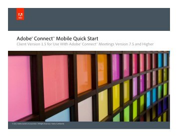 Quick Start Guide - Adobe Connect User Community