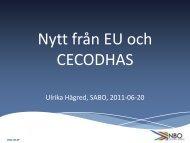 Nytt från EU och CECODHAS - NBO
