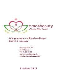 Download prislisten som PDF - til time4beauty