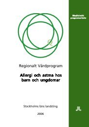 Regionalt Vårdprogram Allergi och astma hos barn och ungdomar