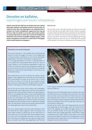 Desselen en kalfaten, - Open Monumentendag Vlaanderen