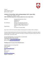 Invitation til storsamling i Aarhus lørdag-søndag d. 26-27. januar 2013.
