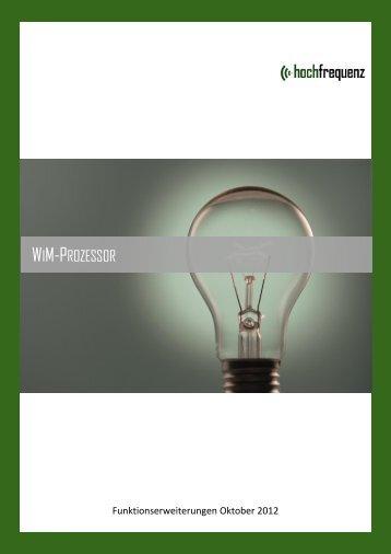 Hochfrequenz WiM Prozessor Update 01.04.2012