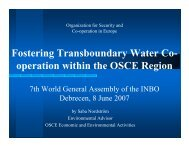 Fostering Transboundary Water Co- operation within the ... - INBO