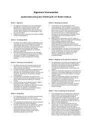 Algemene Voorwaarden - Mulier Instituut