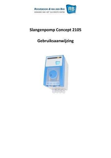 Slangenpomp Concept 2105 Gebruiksaanwijzing - RB Instrument