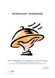 MENUKAART MONDZORG versie 3.2 - Tandarts.nl