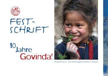Festschrift - 10 Jahre Govinda! - Govinda Entwicklungshilfe e.V.