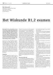 Het Wiskunde B1,2 examen - Nieuw Archief voor Wiskunde