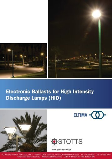 Electronic Ballasts for High Intensity Discharge ... - Stottind.com.au