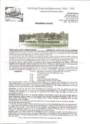Stichting Koopvaardijpersoneel 1940-1945. - Veteranen-online