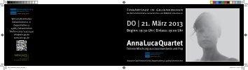 Anna Luca Quartet - Wirtschaftsinitiative Gelsenkirchen