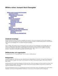 Militära rutiner: kompani Hoch Eisengatter