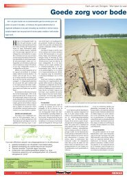 Goede zorg voor bodem steeds belangrijker - VAN IERSEL COMPOST