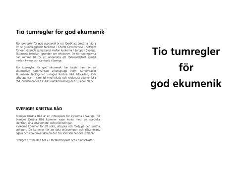 Tio tumregler, ny layout.pub - Sveriges Kristna Råd