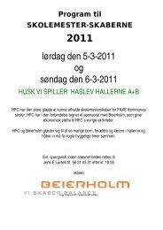 Program 2011 - Haslev Fodbold Club
