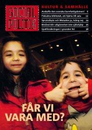Ladda ner nr 2, 2011 av Socialpolitik, (pdf-fil)
