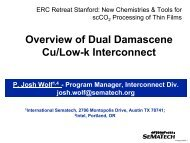 Overview of Dual Damascene Cu/Low-k Interconnect