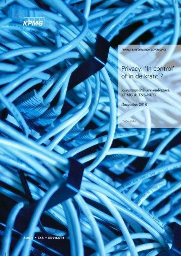 Privacy: 'In control' of in de krant ?