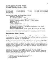 LIBERALE BEWEGING VOOR - Brugse verenigingen