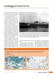 Kanalbyggeriet tømte Vårst Sø - Det tabte land